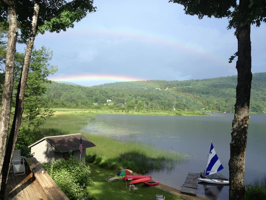 All the pond activities and  a rainbow!