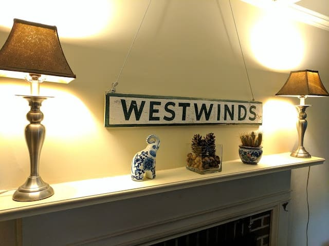 "We chose ""Westwinds"" as a name for our home because Chris's family also bought the vacation home of the same original family of our home - the Wests."