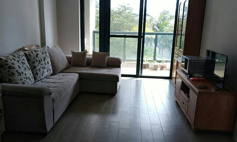 The living room 看电视看累了,坐在客厅里抬眼看看绿色,给眼睛放个小假