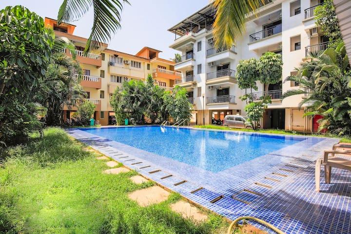Luxurious 1 BHK with a pool, near Baga Beach/70474