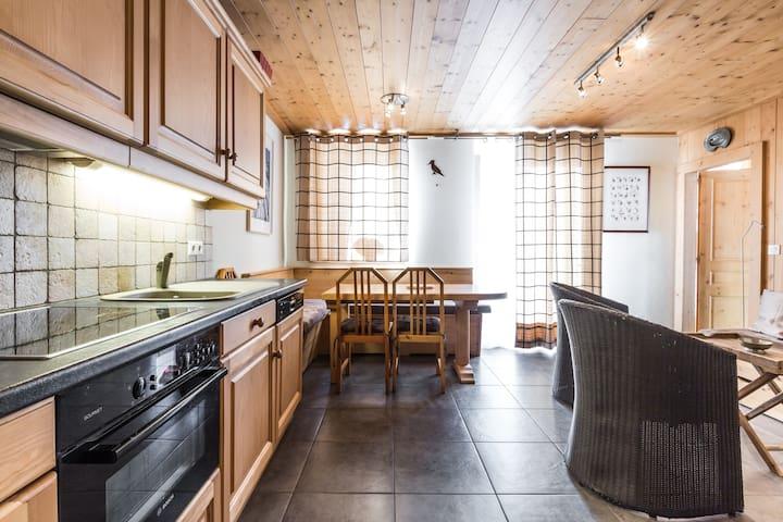 Apartamento Chez Arséne, vista del Mont Blanc en un pintoresco pueblo