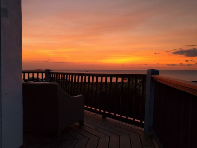 Sunrise from your private deck.