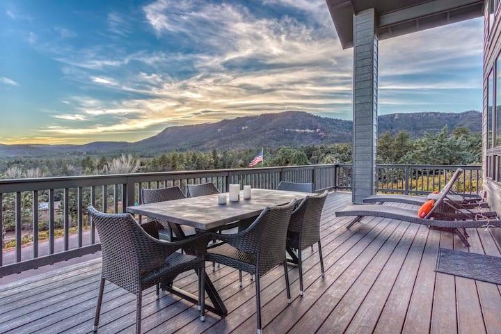 NEW! Modern Pine Retreat w/ Deck & Stunning Views!