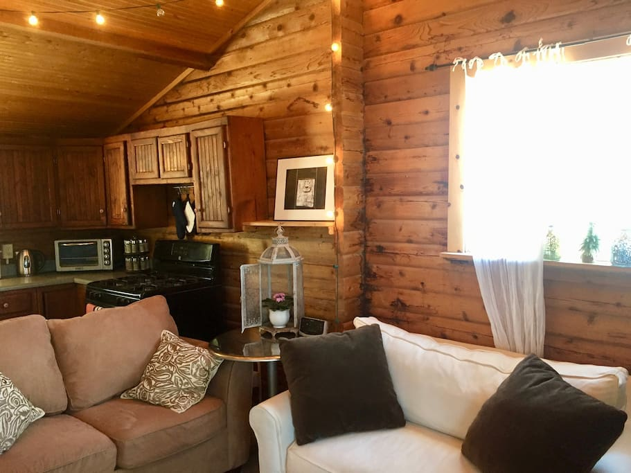 Historical cabin with modern amenities