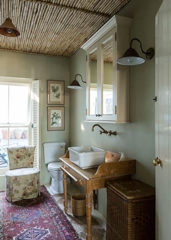An old-world bathroom