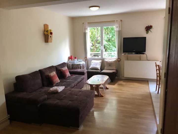 Appartement spacieux (71m²) lumineux et calme.