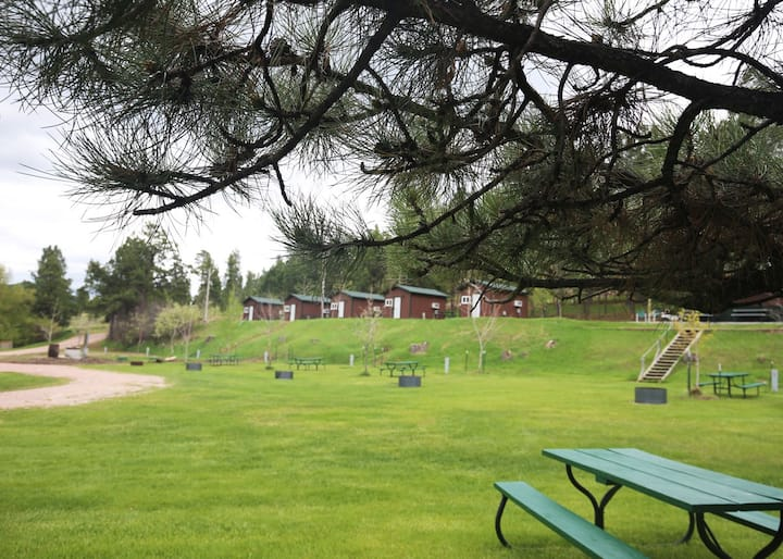 Tent camp in the heart of the Black Hills