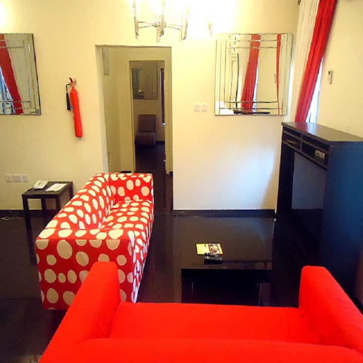 Luxury one bedroom fully furnished apartment.