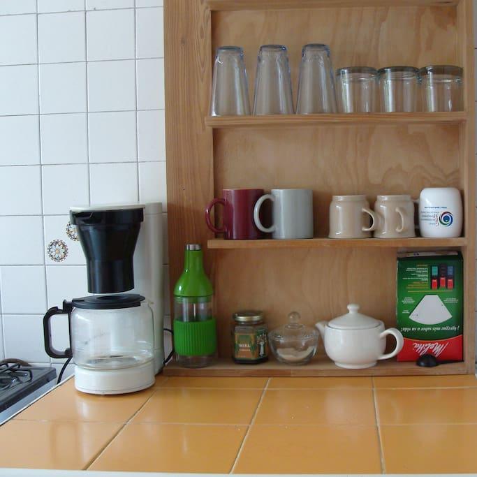 Kitchen equipment for breakfast