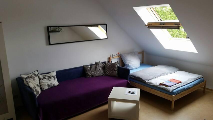 Charming and light room...