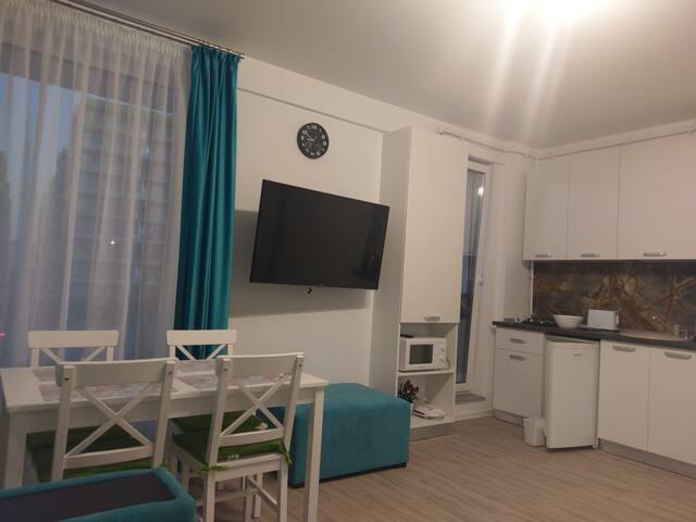 Apartamentul Turcoaz aproape de mare