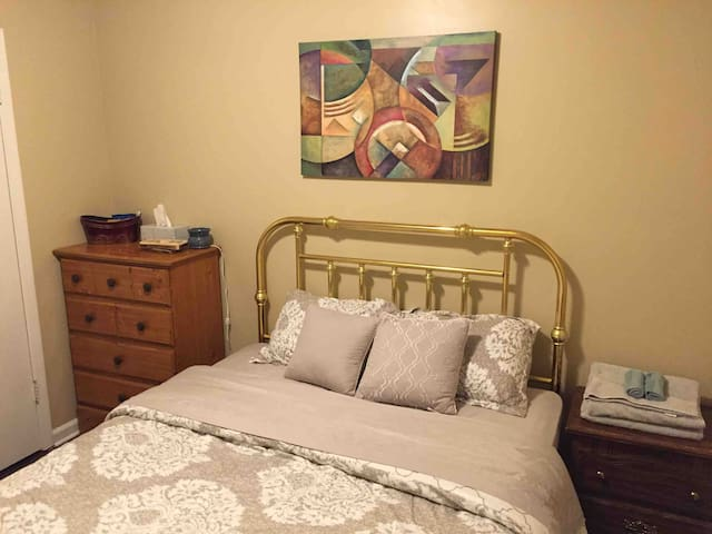 Clean and Spacious Room near Airport and Graceland