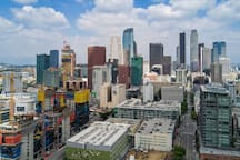 DTLA is only minutes away, you can see the downtown skyline from the outside of the house.