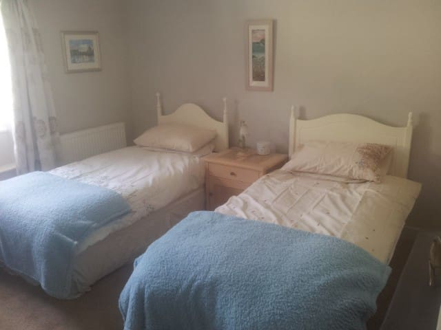 Comfortable twin room in friendly Cornish village - Tideford - Bed & Breakfast