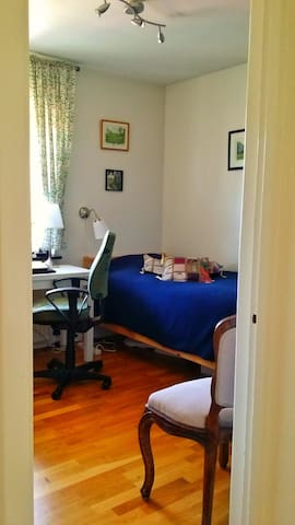 The guest room has working desk