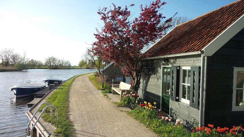 Lieflijk huisje aan het water - Schipluiden - キャビン