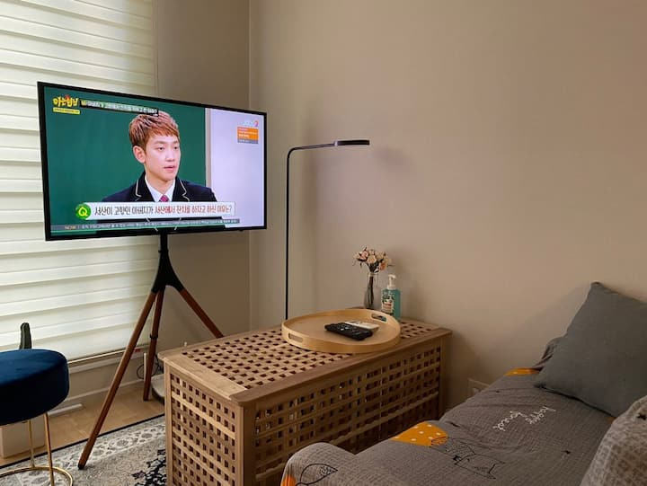 [A homey inn] 광교호수공원5분, NETFLIX, PS4, Wifi, 무료주차