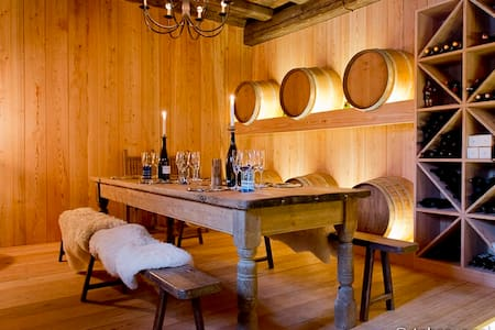 Luxury 250 yr old Swiss winefarm with party cellar