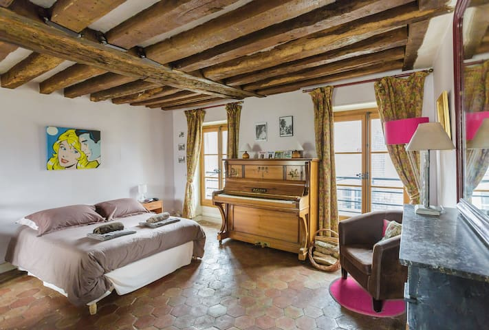 Safe, central village on island - Paris - Apartment