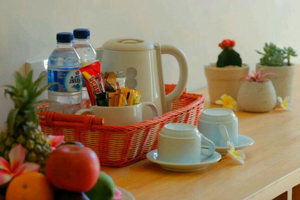 complimentary mineral water, coffee and tea everyday