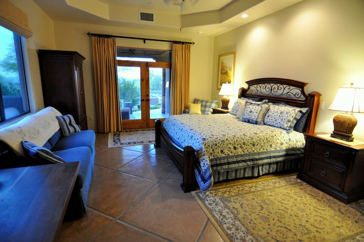 Retreat to the spacious, beautifully appointed King Master Suite