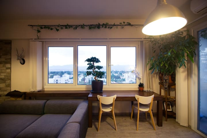 View of the outside through the living room window!  It really is breathtaking from up here!