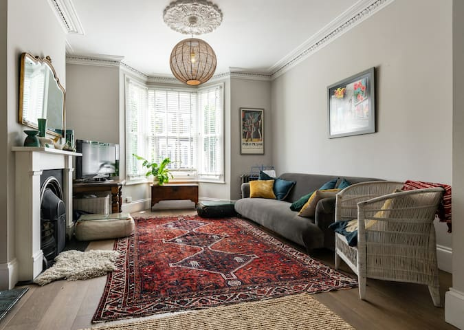 Stylish room in Victorian terraced house.