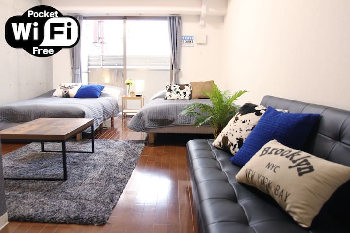 3Min Namba Station☆3bed Luxury WideRoom☆Central DE