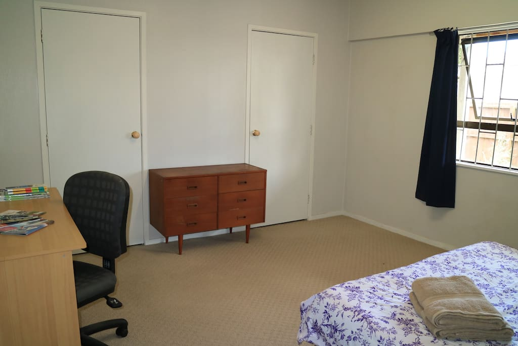 Two doors wardrobe, dresser and desk