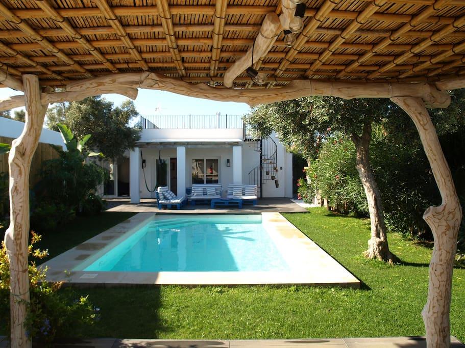 bonita casa de campo con piscina villas en alquiler en