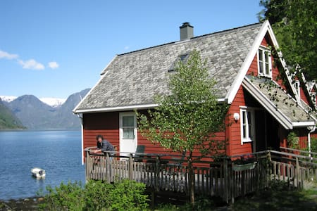 Fretheim Fjordhytter. Holiday cottages in Flåm - Aurland - Blockhütte