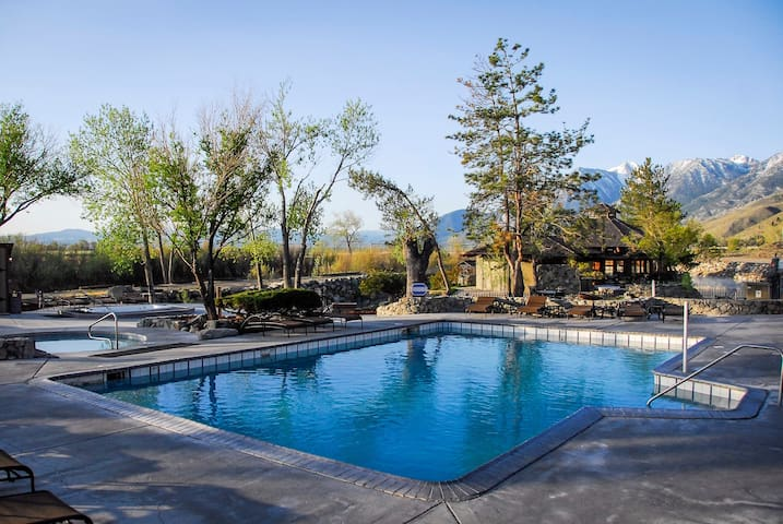 Historic Resort w/ Stunning Mountain Views. Outdoor Hot Springs & Pool.
