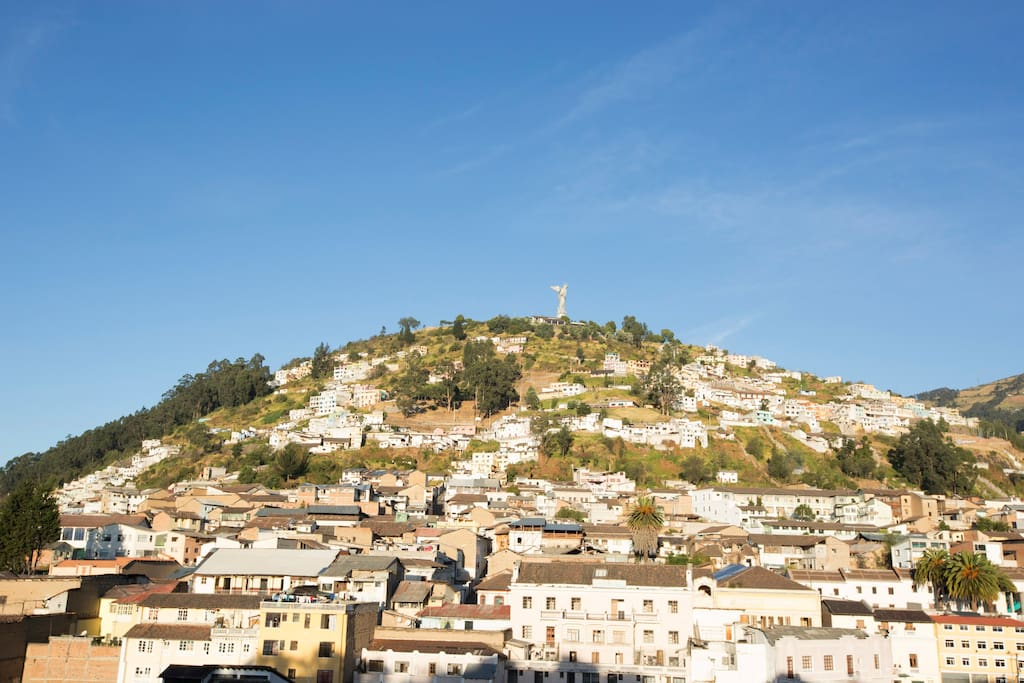 View of Panecillo from our Mirador