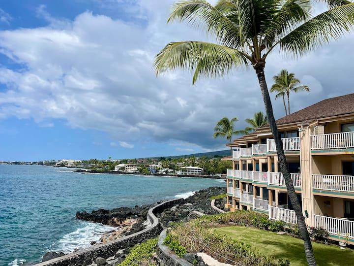 Ocean Front Sea Village Resort in Kona Sleeps 4