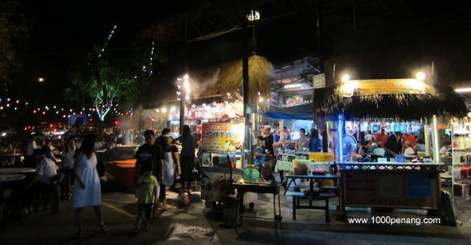 Sungai Pinang Food Paradise that is only 8 mins away by foot