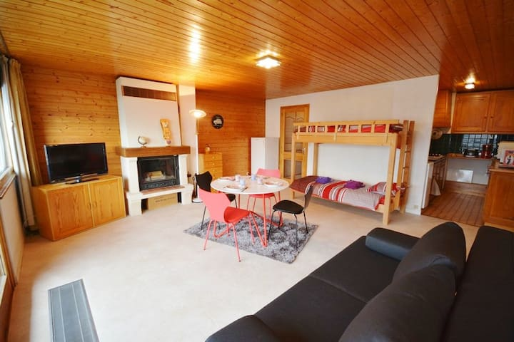 Cosy bright studio of 40 sqm near centre ! - Morzine - Lägenhet