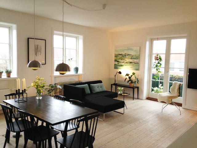 Nordic, bright and cozy apartment near Copenhagen - Birkerød - Wohnung