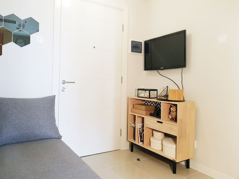Living area with TV Cable