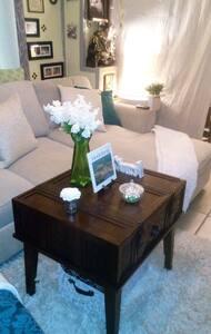 Sofa, Shower, Grits/Oatmeal, Coffee/Tea & Toast