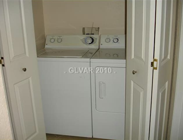 washer and dryer inside your condo