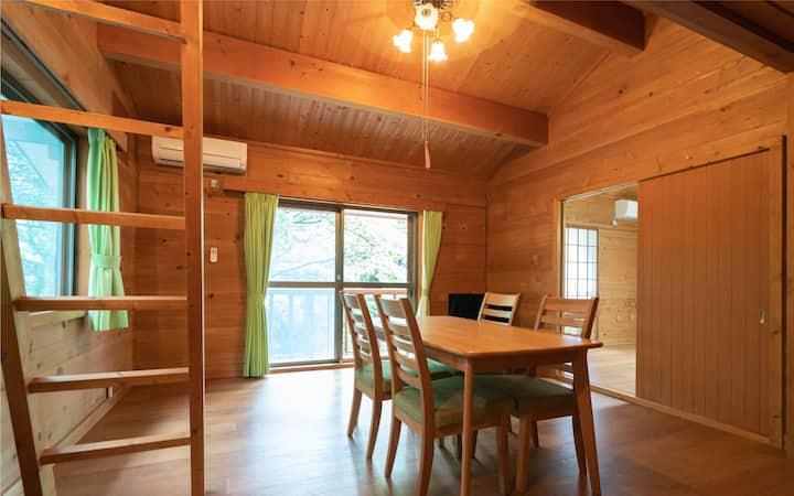 伊豆高原 お庭でバーベキュー可 一棟貸切タイプ 古民家風貸別荘 1DK wi-fi完備 ペットOK
