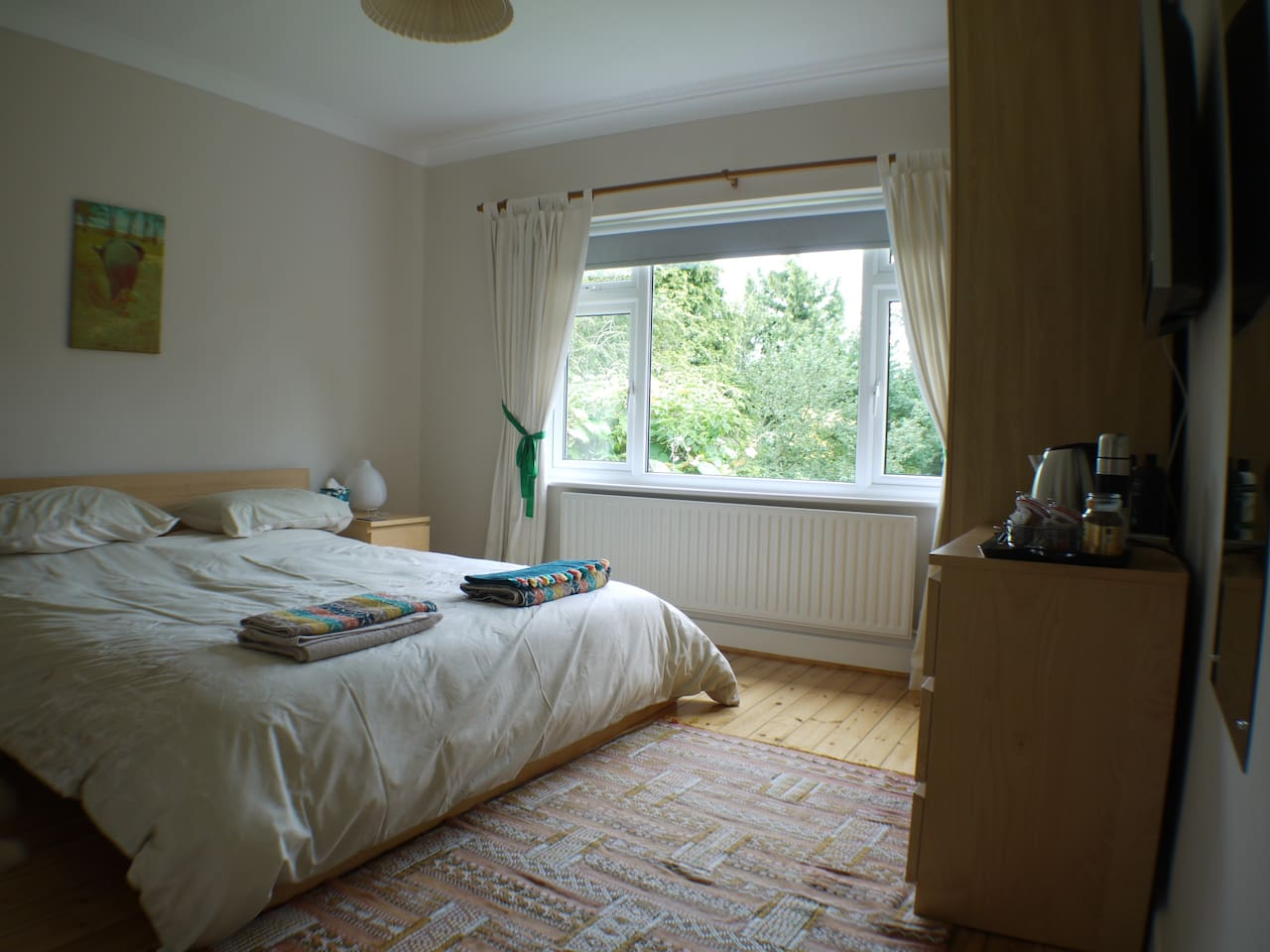 Bedroom 1 - super king size bed with great views over the garden