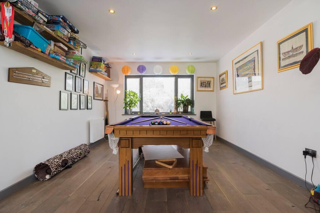 Medium sized pool/snooker table