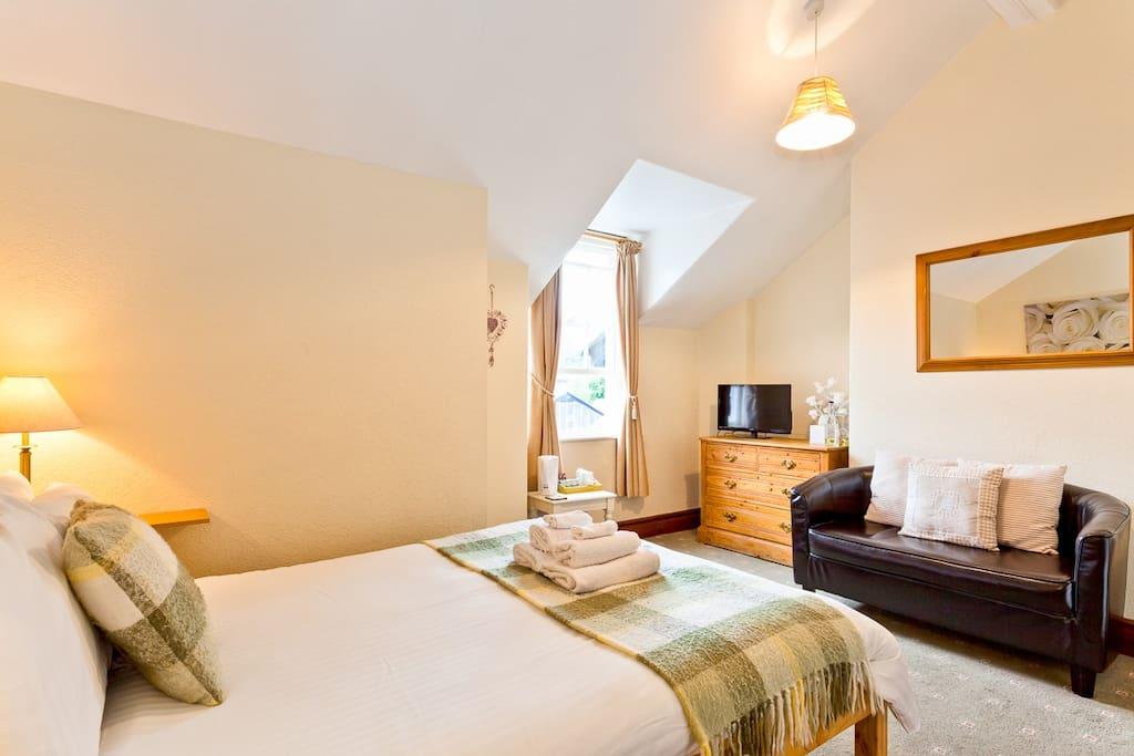 A warm spacious double en-suite