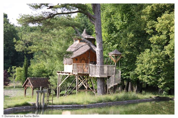 La cabane du bout du pré - Descartes - Ağaç Ev