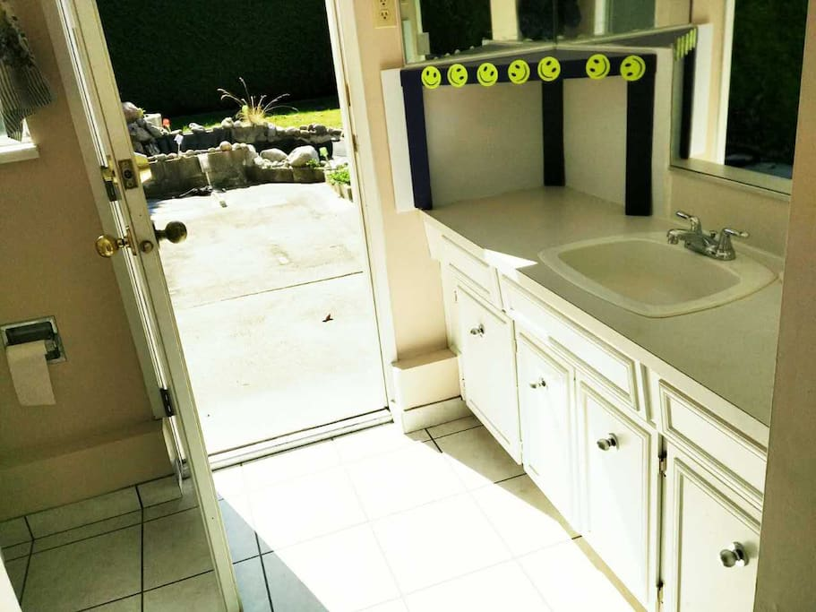 in-suite bathroom with separate entrance