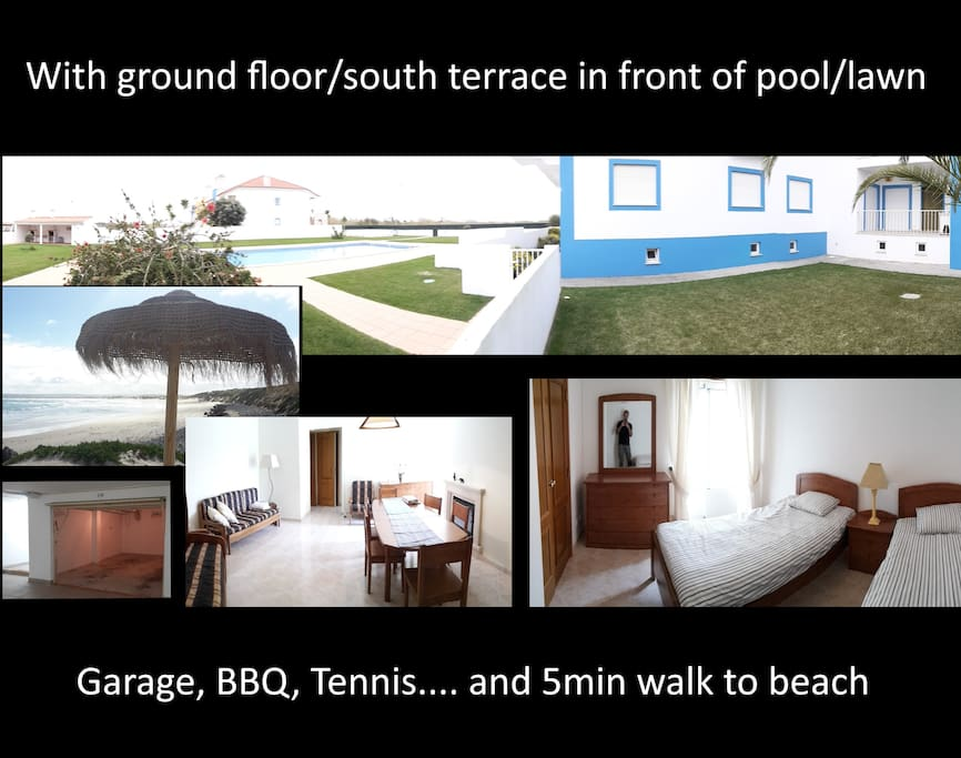 Fresh 2 room condo apartment with terrace and pool etc, 5 min from both baleal beaches (north or south of the baleal peninsula - your choice), 2 min from all bars restaurants and shops..