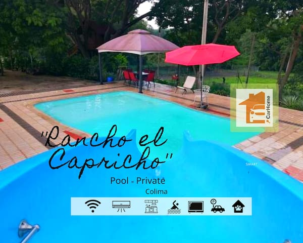 Rancho piscina privada Wifi 3hab.Rumbo TecnoParque