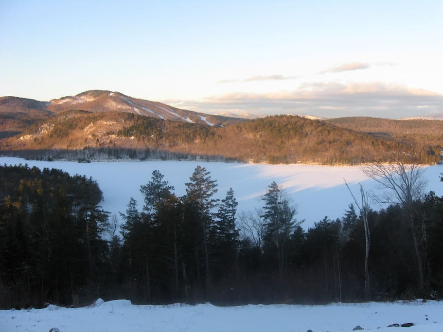 You have two lake views.  This is South Pond in the winter and other photos show Bryant Pond