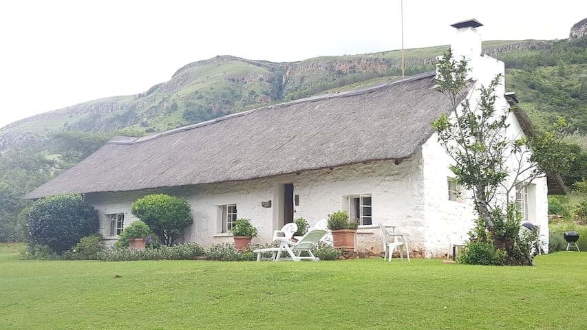 Charming thatched roof farm house
